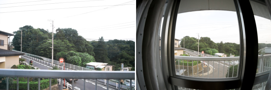 Side-by-side comparison of Opteka 6.5mm Fisheye Lens