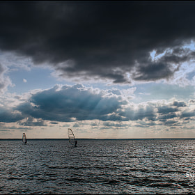 Windsurfing in rays by Igor M (mallinidesign)) on 500px.com