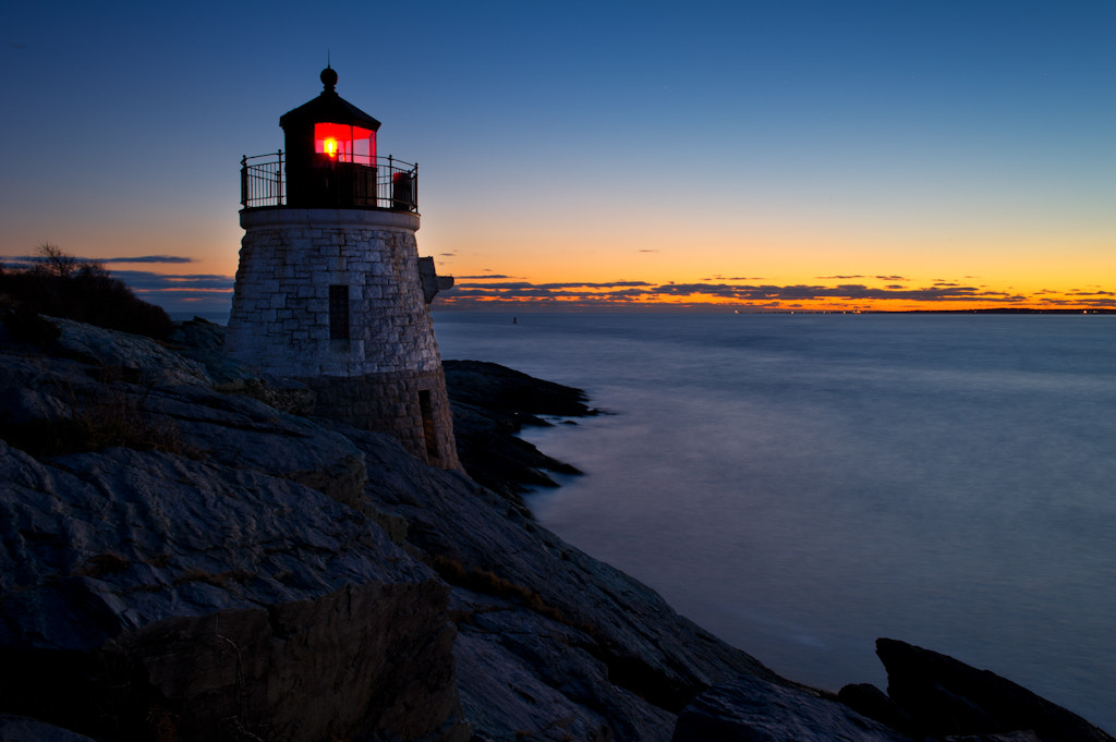 Photograph Dusk at Castle Hill Light by Michael Blanchette on 500px