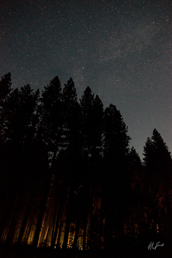 Camp fire and the stars..