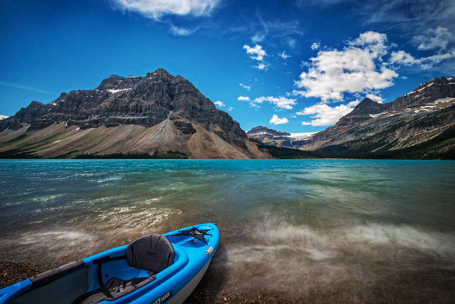 A blustery day at Bow Lake by Bob Bittner on 500px.com