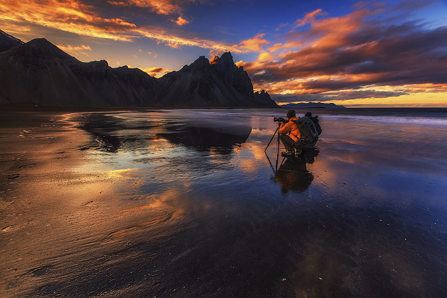 Photograph A sunset in Vesturhorn by Yiannis Pavlis on 500px