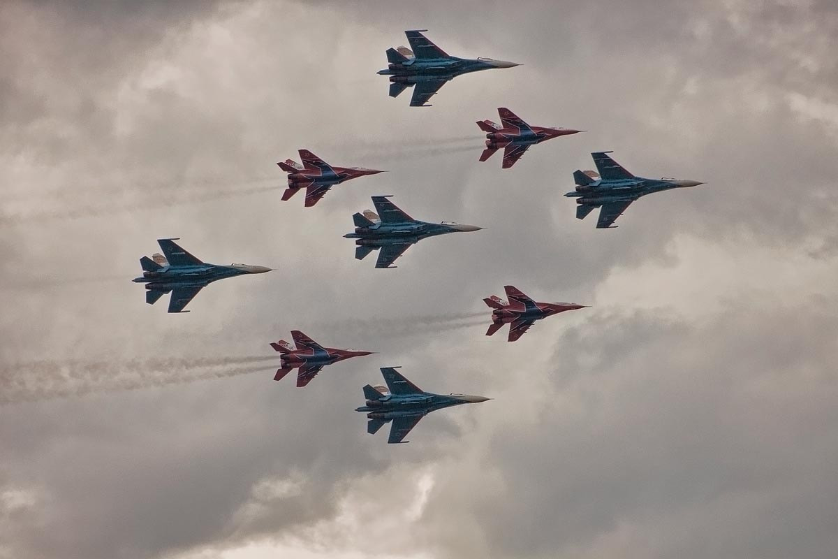 Photograph Air Show Celebrating 100 years of Russian Air Force by Maria Mirabella on 500px
