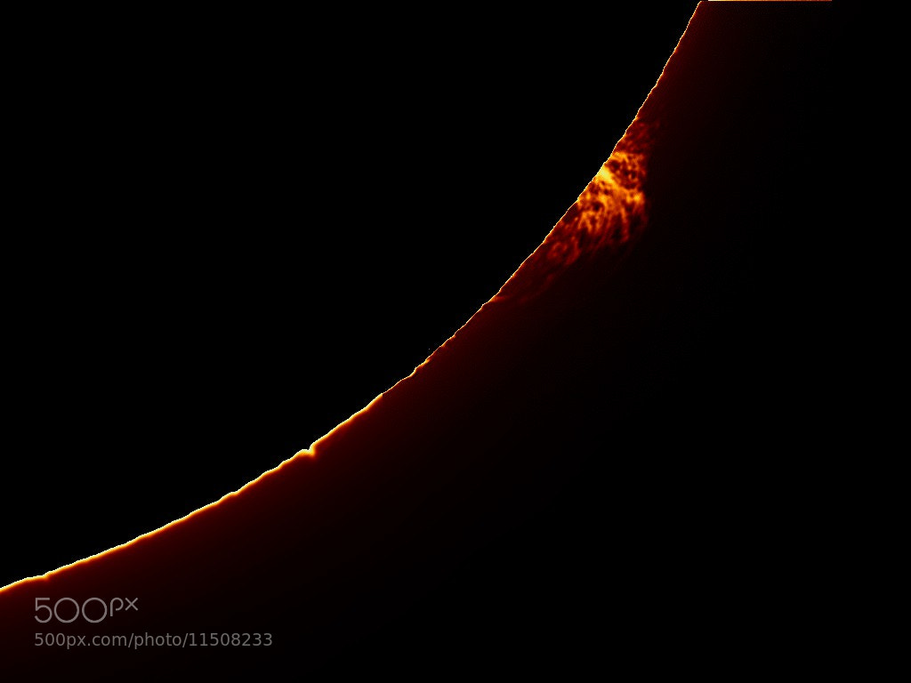 Photograph Monster Solar Prominence by Claude Desrosiers on 500px
