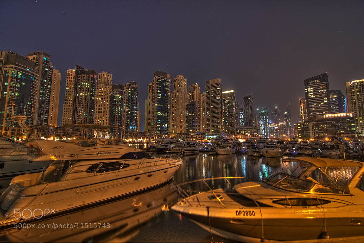 Photograph Boats on Water - Night Scene by Andrew Madali on 500px