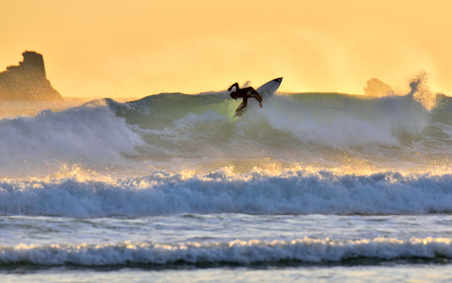 Sunset surfing by Pierre-Yves Baraër on 500px.com