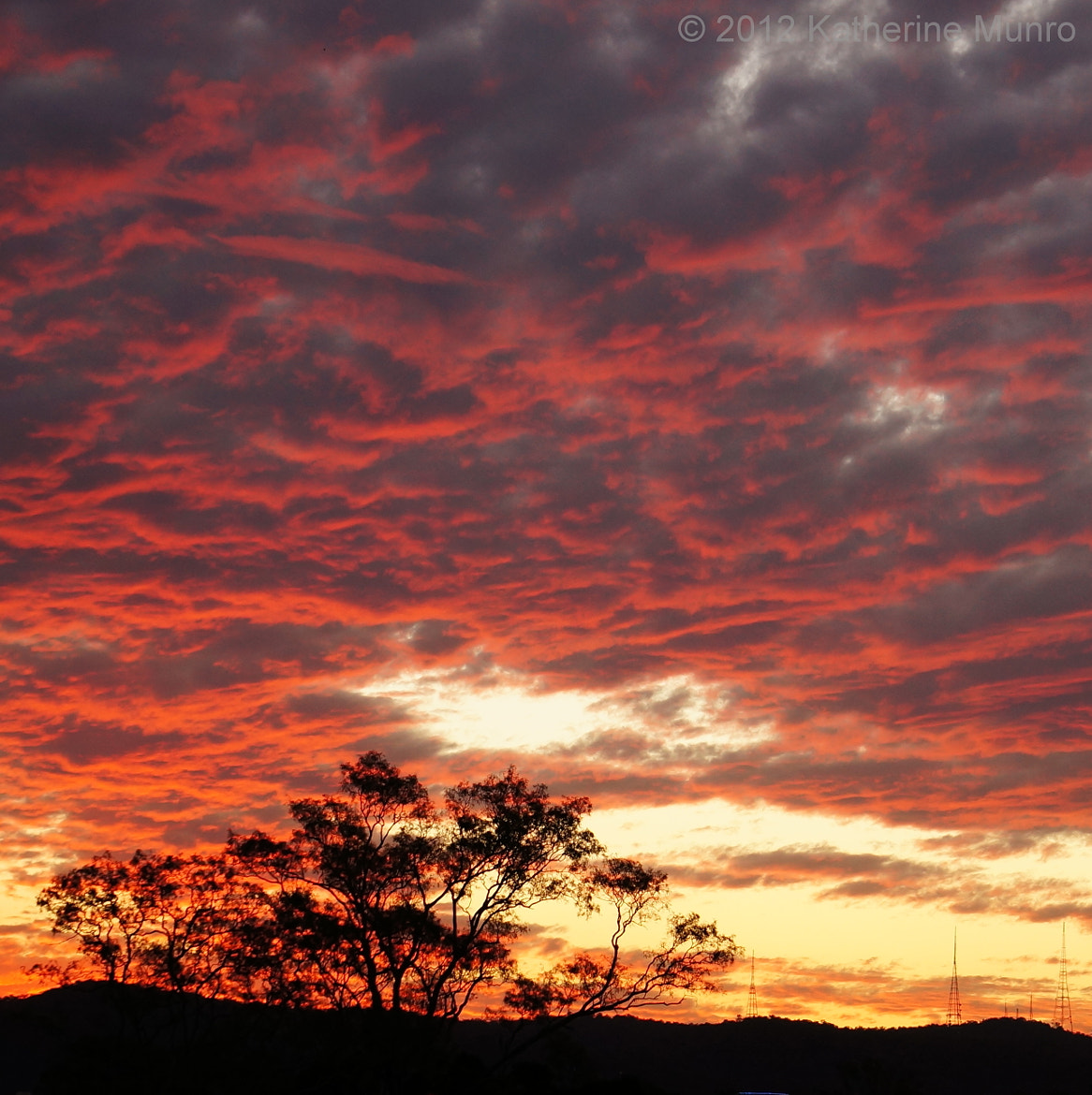 Photograph Sunset over Mt Coot-tha by Katherine Munro on 500px