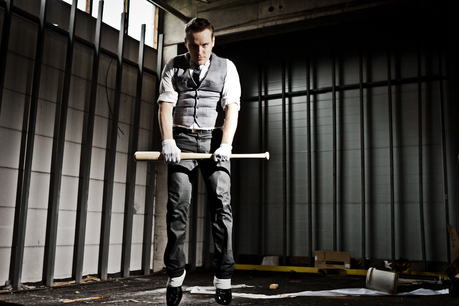 Photograph Man With Baseball Bat by JP Manninen on 500px