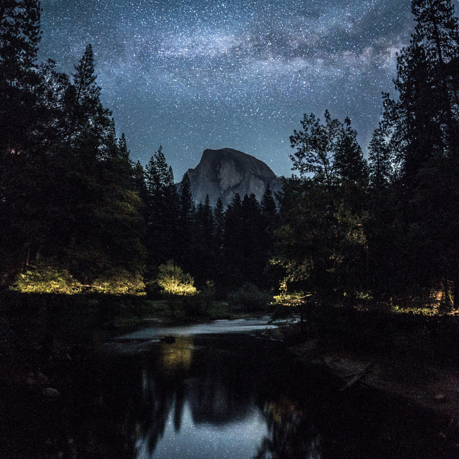 half dome. milky way. yosemite. california. I photographed stars 5 days in a row in yosemite. So hop by Tanner Wendell Stewart on 500px.com