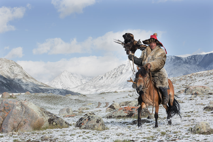 A Kazakh Eagle Hunter by Yu Shi on 500px.com