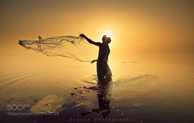 Photograph Fishing by dinesh babu on 500px