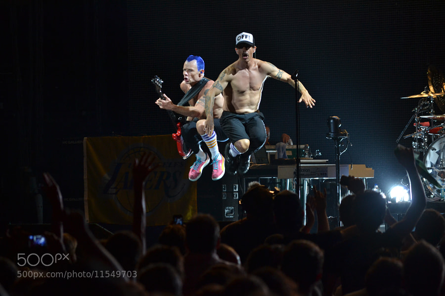 Photograph RHCP Live in LA (2012) by Erwan Alliaume on 500px