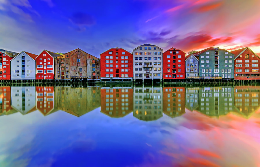 Nidelva the Mirror of Trondheim by Aziz Nasuti on 500px.com
