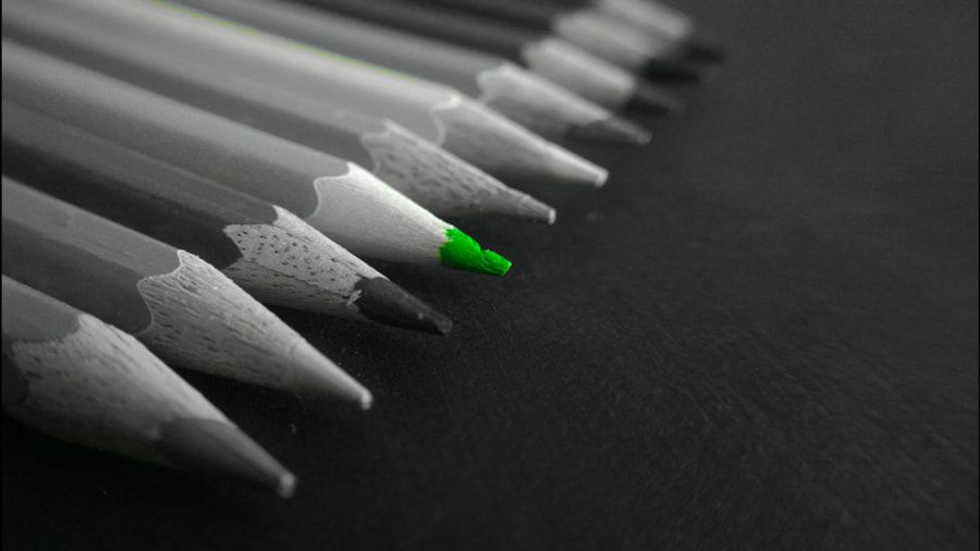Photograph Green Pencil by Awesh Shrivastava on 500px