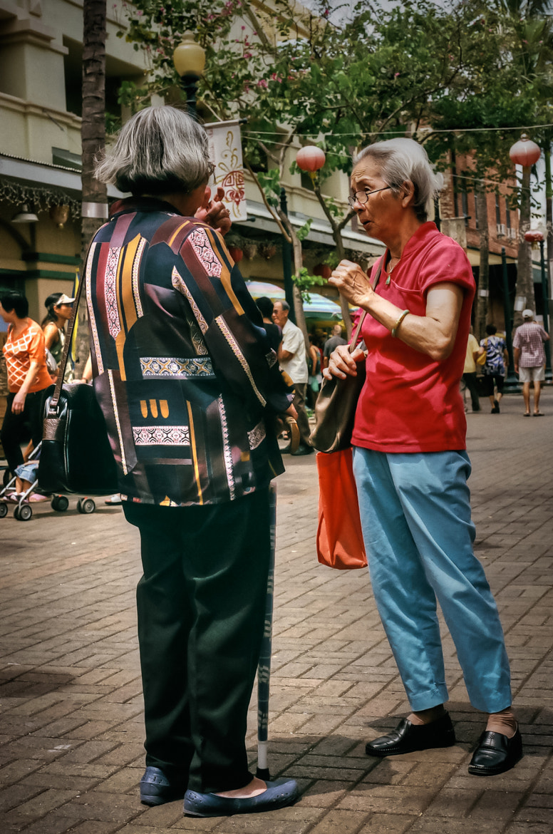 Photograph Street Pause and Talk by Virgil Gabriel on 500px