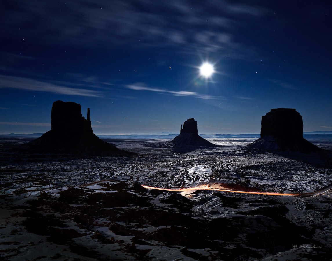 Photograph Moonlight in Monument Valley - Arizona by Dominique  Palombieri on 500px