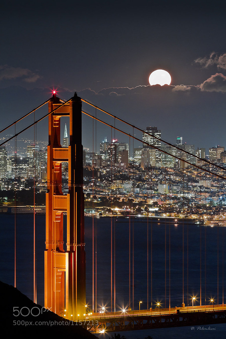 Photograph Golden Gate Bridge - Fullmoon - San Francisco - CA by Dominique  Palombieri on 500px