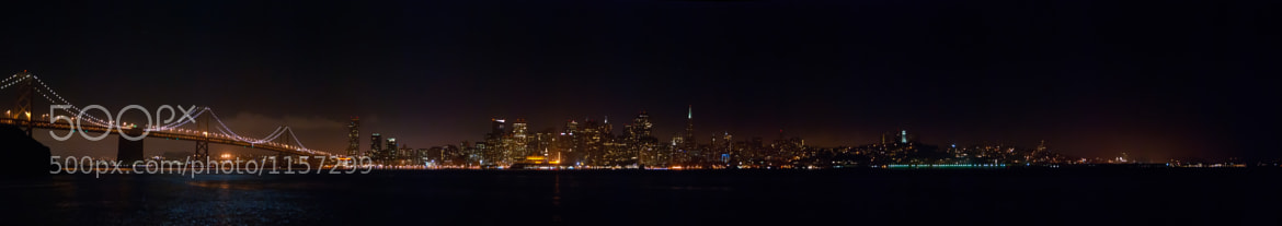 Photograph San Fransisco Skyline at Night by James Williams on 500px