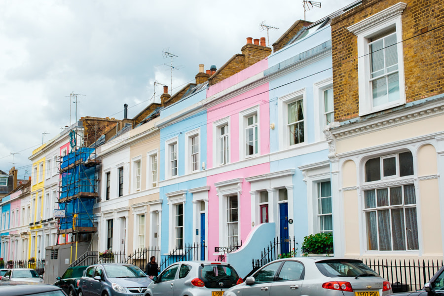 Photograph Colourful house, London Street by Tao Jin on 500px
