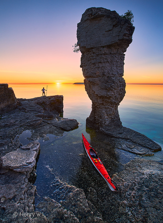 Sunrise at Flowerpot Island by Henry Liu on 500px.com