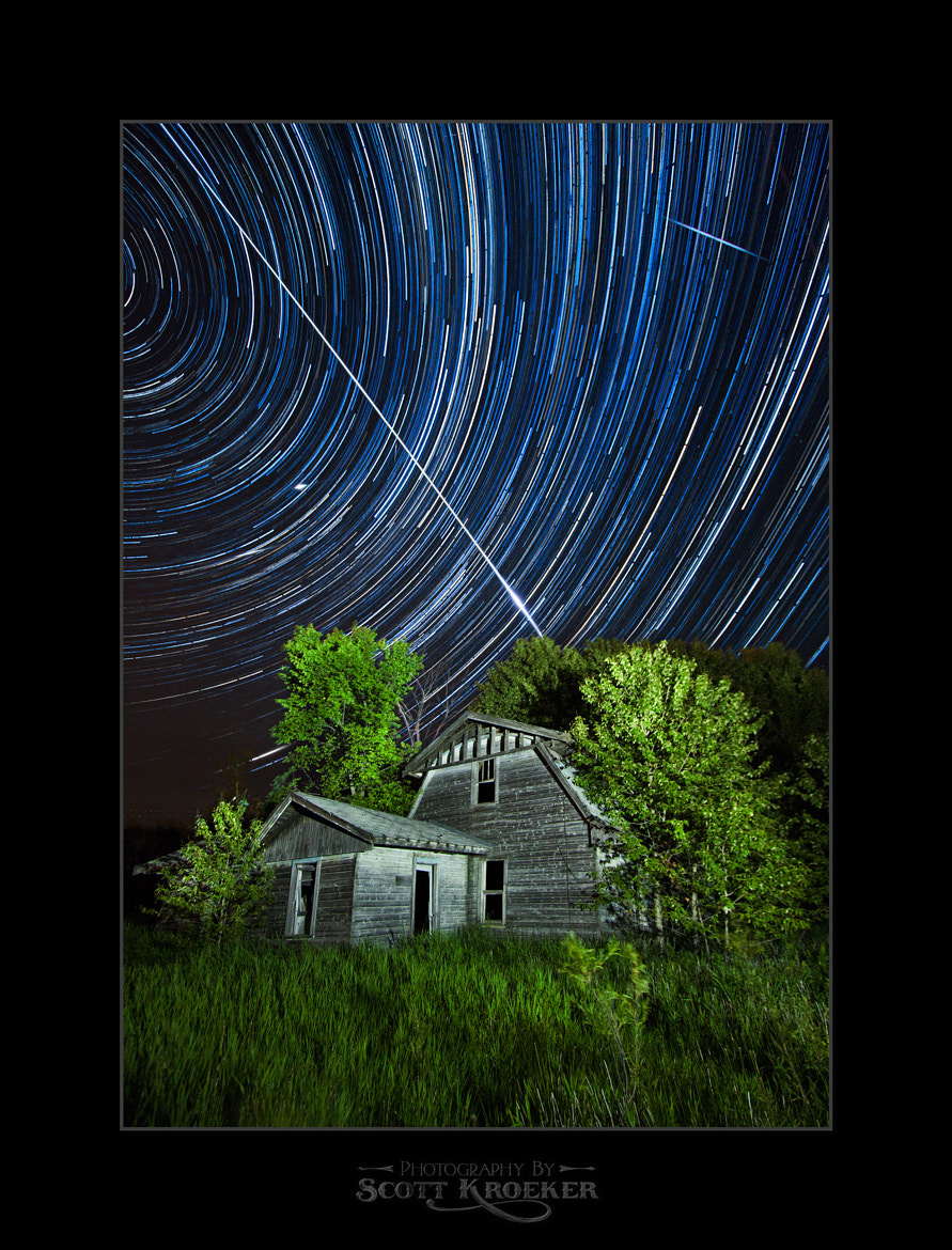 Photograph Perseid Meteor Shower & Star Trails by Scott Kroeker on 500px