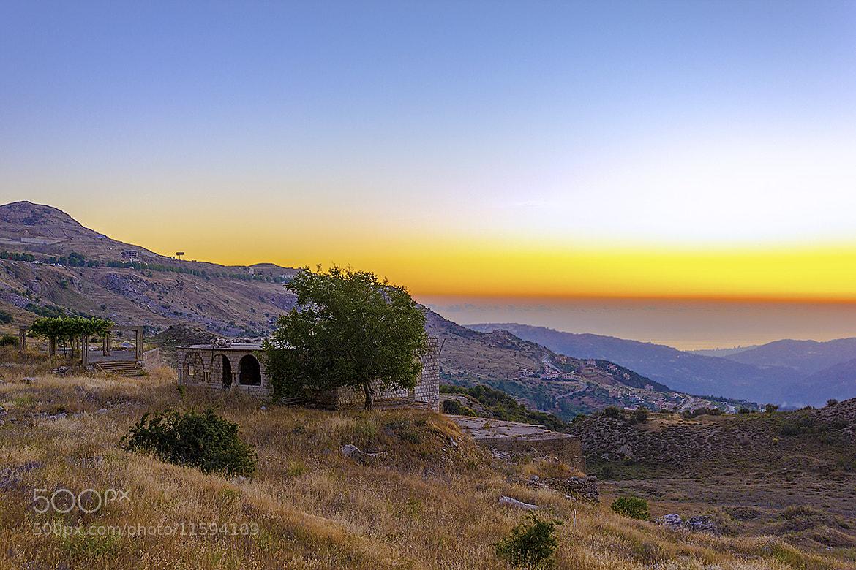 Photograph Sunset in Hammana - Lebanon by Ghaleb al-Jazmi on 500px
