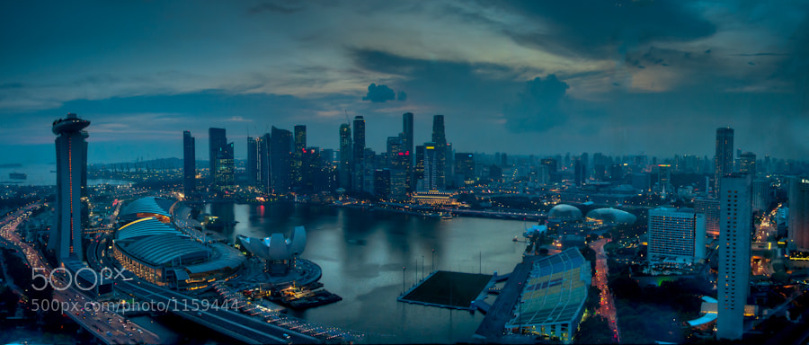 Photograph Singapore Twilight by Ben Stephens on 500px