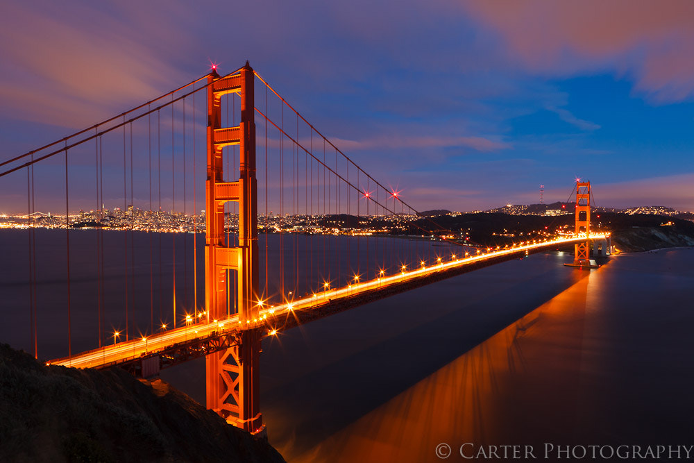 Photograph Glowing Golden Gate by Justin Carter on 500px