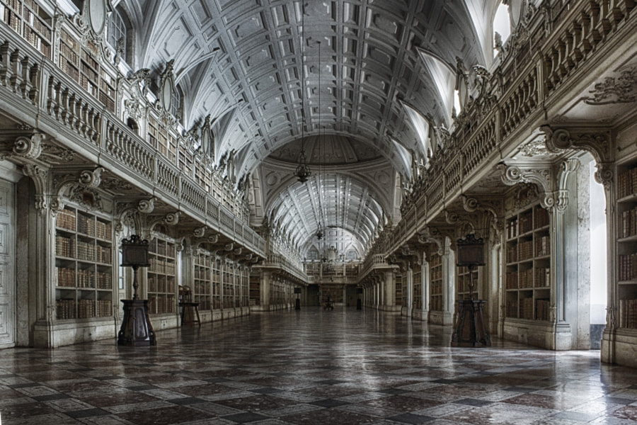 Convent Library (Mafra National Palace) by Vitor Santos on 500px.com