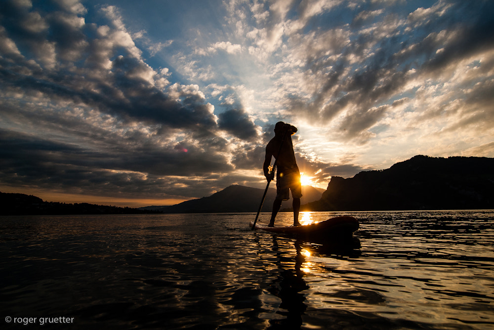 Photograph SUP Lake Lucerne by roger gruetter on 500px