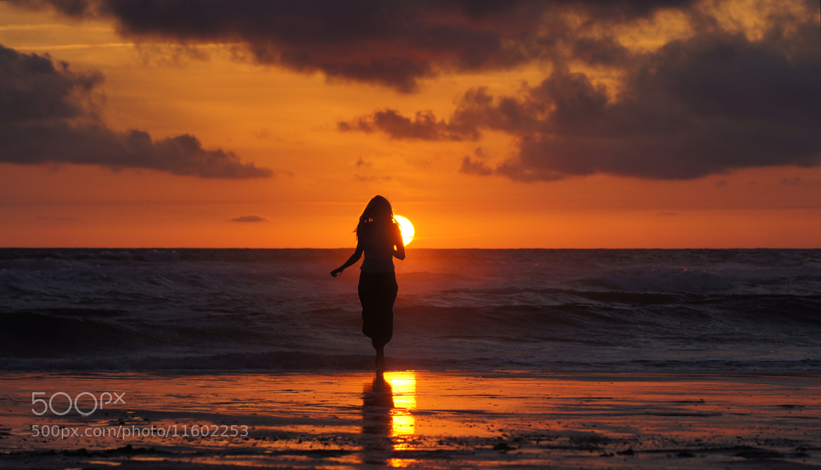 Photograph Girl & Sunset on the Ocean by Michel Picard on 500px