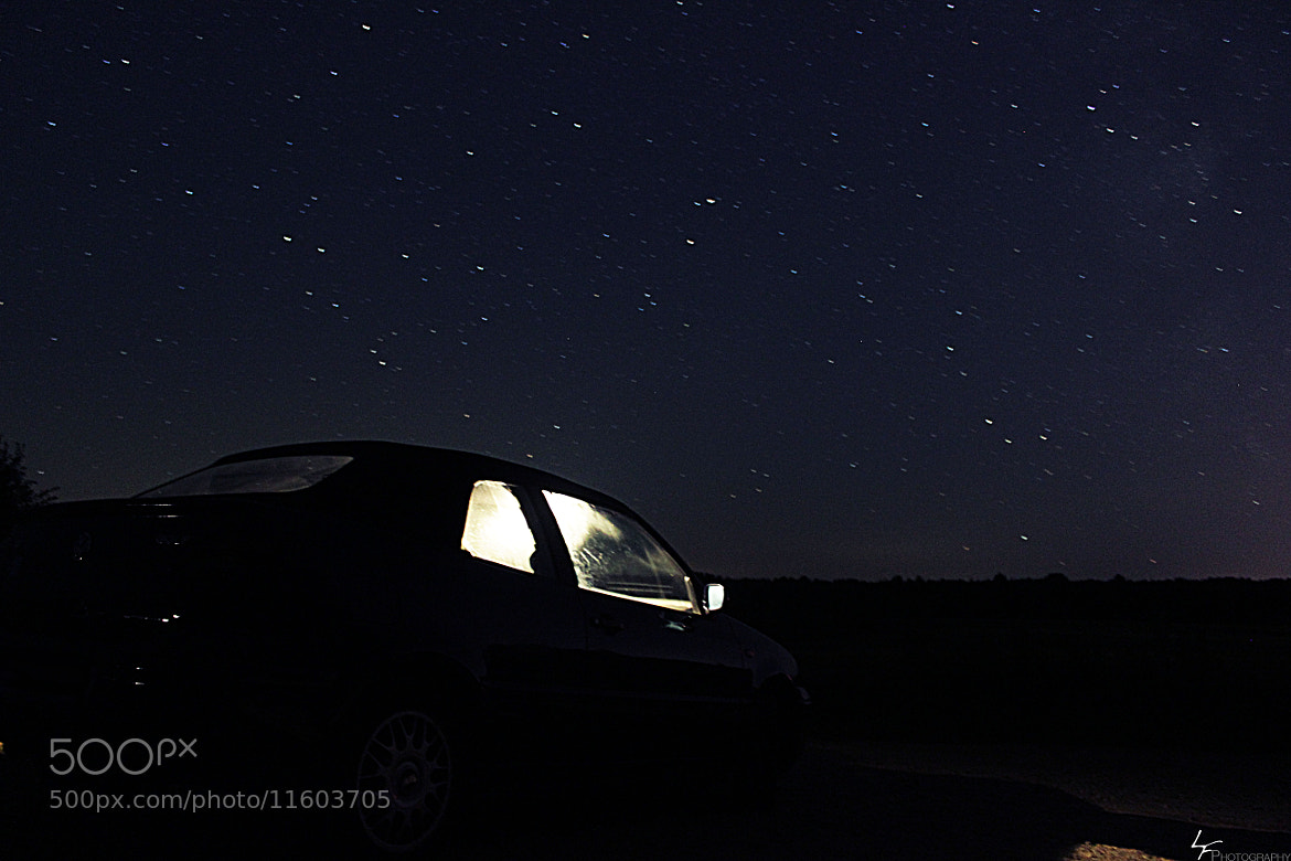Photograph Car under Starlight by Lasse Fiedler on 500px