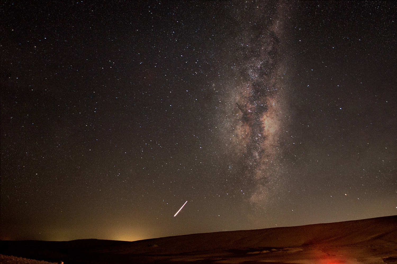 Photograph Milky Way & Meteors by Ahmed ALsamra'ee on 500px