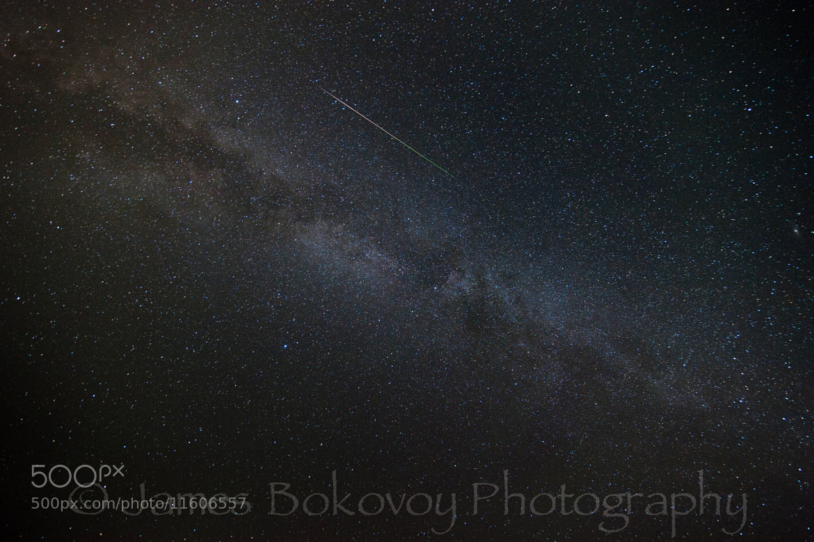 Photograph Perseid Meteor Shower & Milky Way by James Bokovoy on 500px