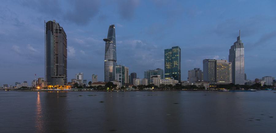 Morning Saigon, view to District 1