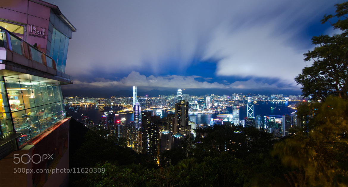 Photograph Night Scene@The Peak (HK) 1 by Man Tsui on 500px