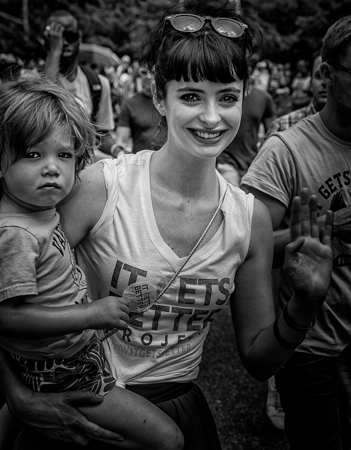 "Photograph :: Krysten Ritter Celebrates Pride March with the ""It Gets Better Project"" - Pride Parade NYC (2012) by Evan Santé on 500px"
