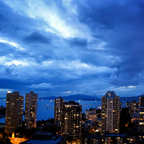 Vancouver cloudy skies before fireworks