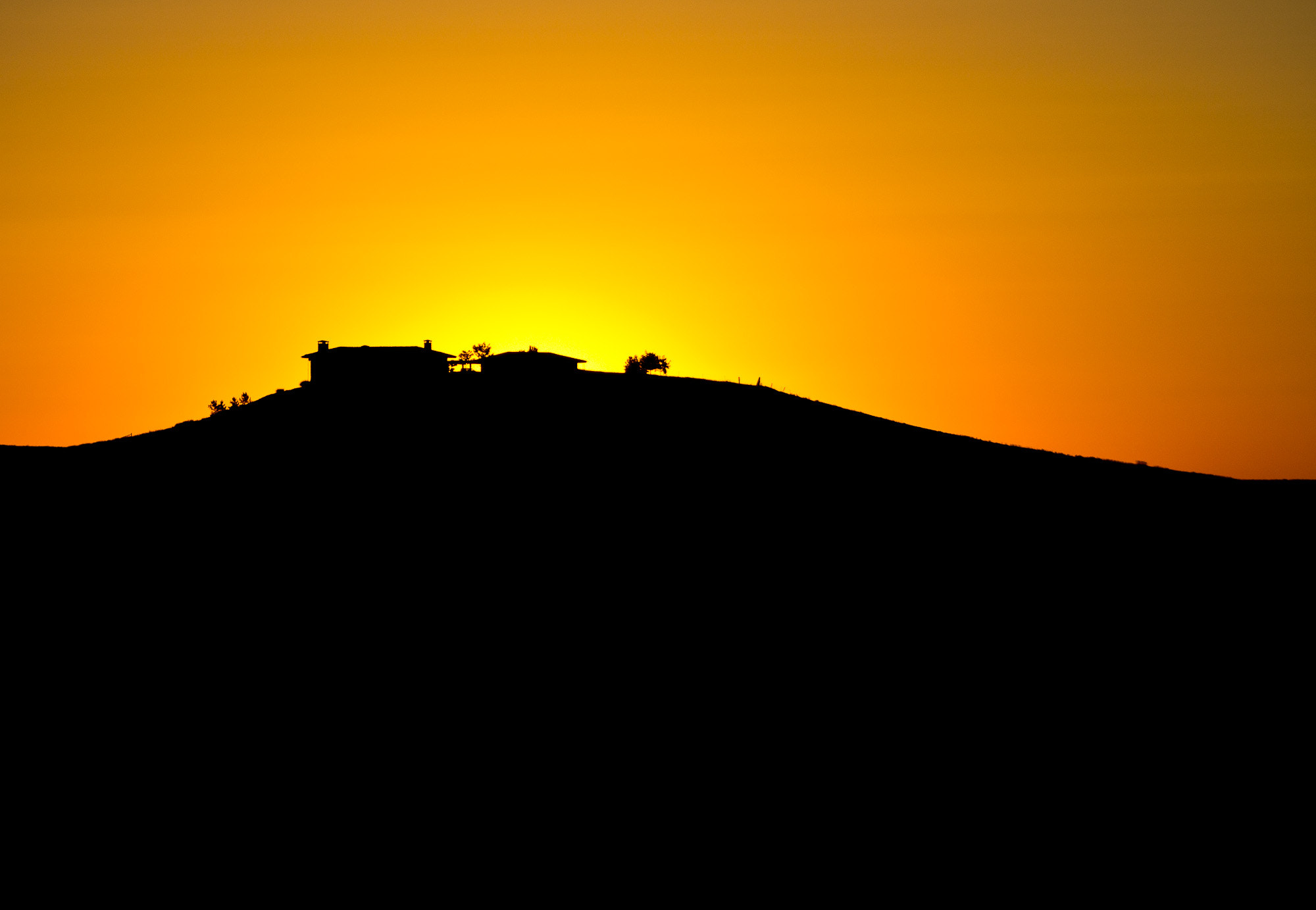Photograph House on the hill silhouette by Kevin Rank on 500px