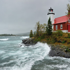 """Witch of September"" Eagle Harbor Lighthouse  by John McCormick (Michigan-Nut)) on 500px.com"