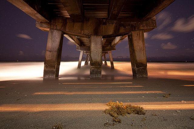 Photograph Under the Pier by Mike Puglisi on 500px