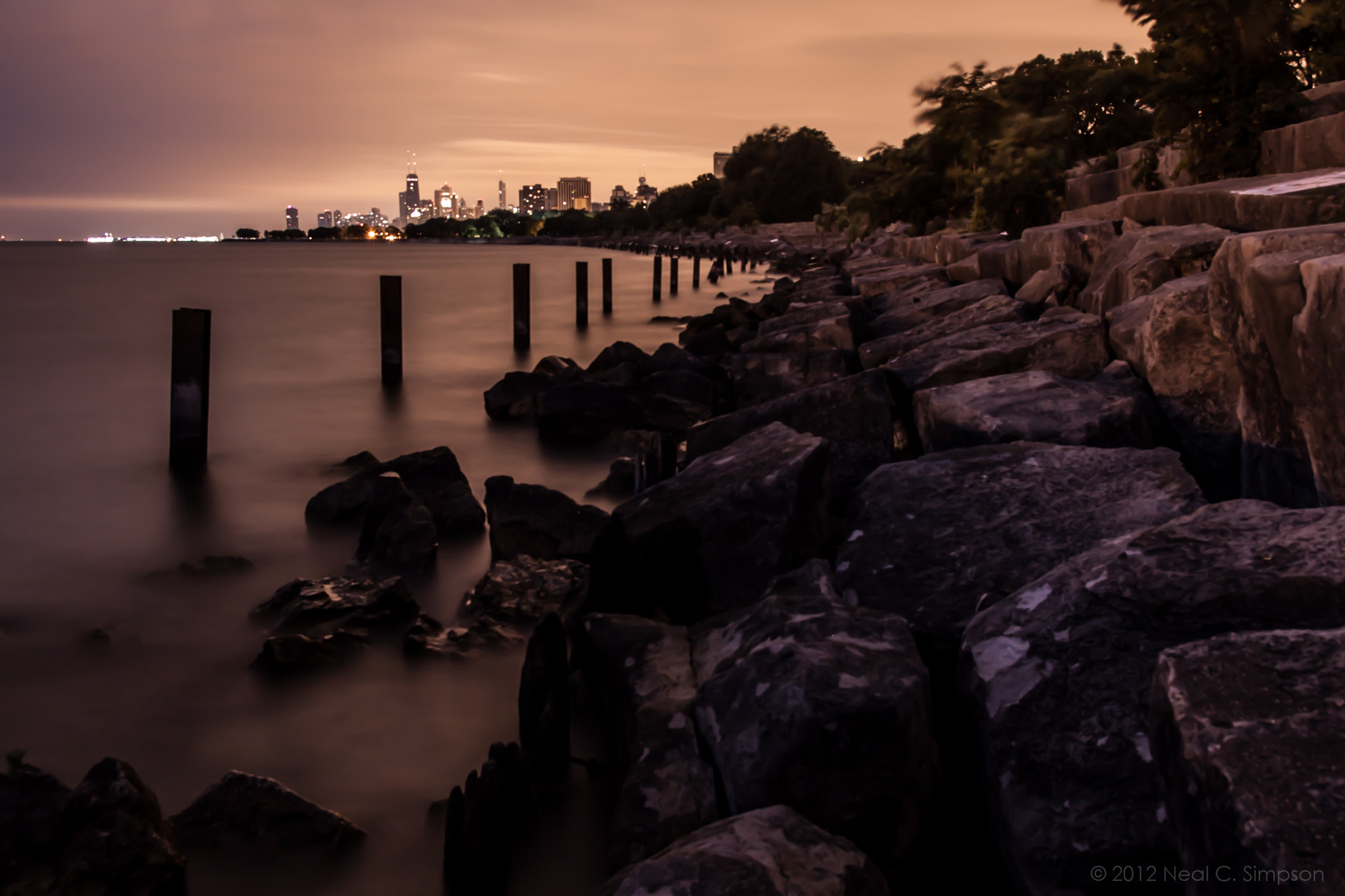Photograph Chicago, Montrose Harbor, 4:32 am by Neal Simpson on 500px