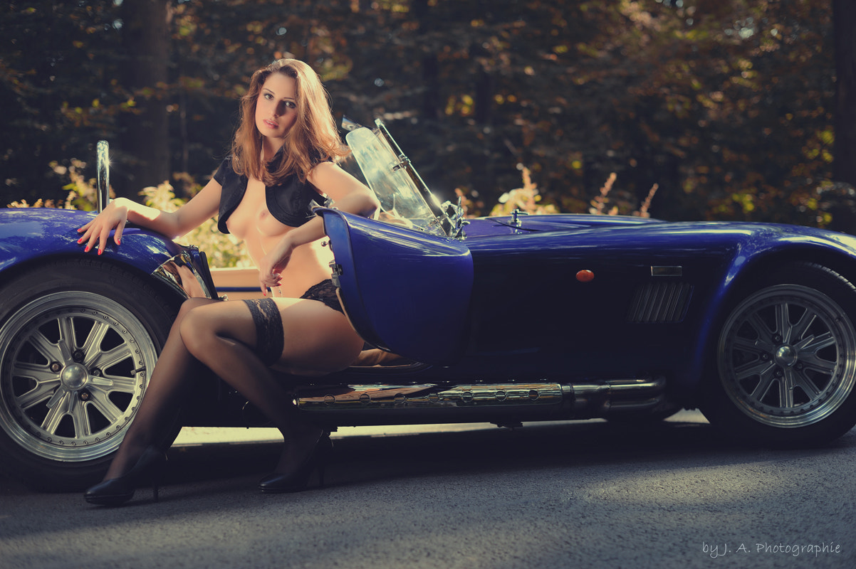 Photograph Julia with AC Cobra by J.A. Photographie on 500px