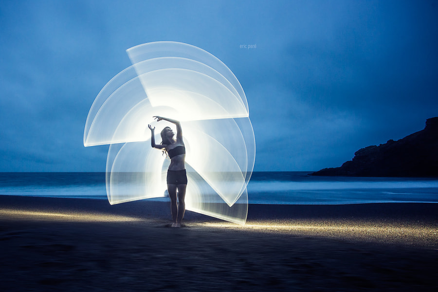 Light-painting with Kim Henry by Eric  Paré on 500px.com