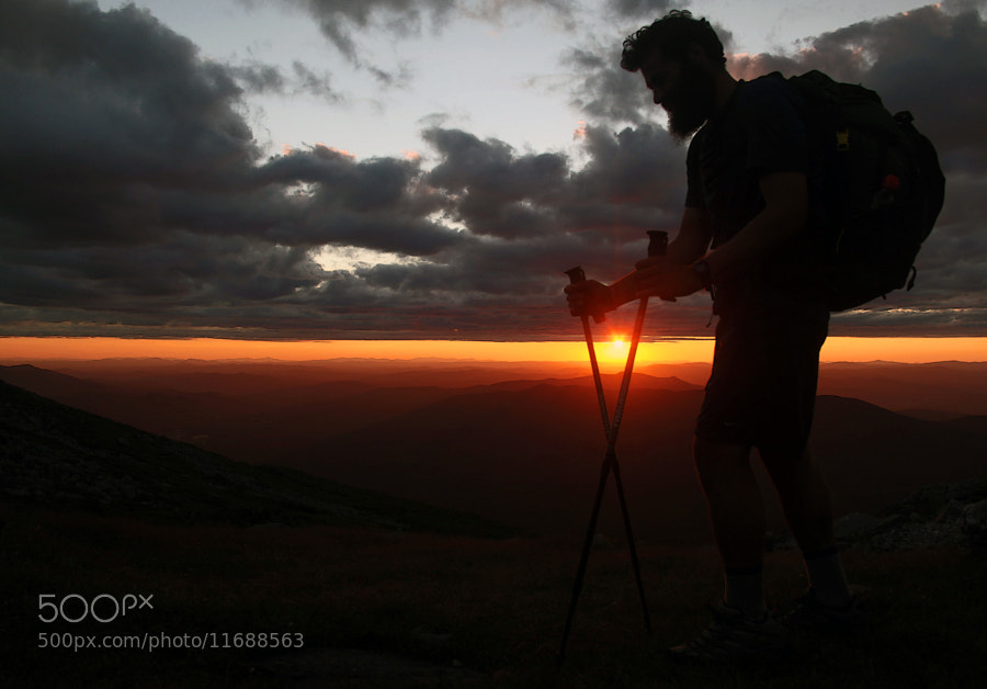 Photographed this Appalachian Tail Thru-Hiker near the base of Mt. Washington, New Hampshire.