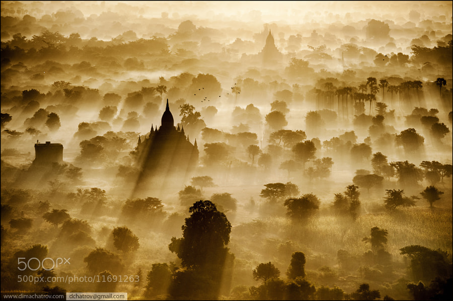 Photograph Sunrise Bagan by Dima Chatrov on 500px
