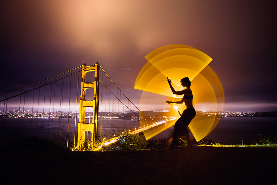Light-painting at Golden Gate Bridge by Eric  Paré on 500px.com