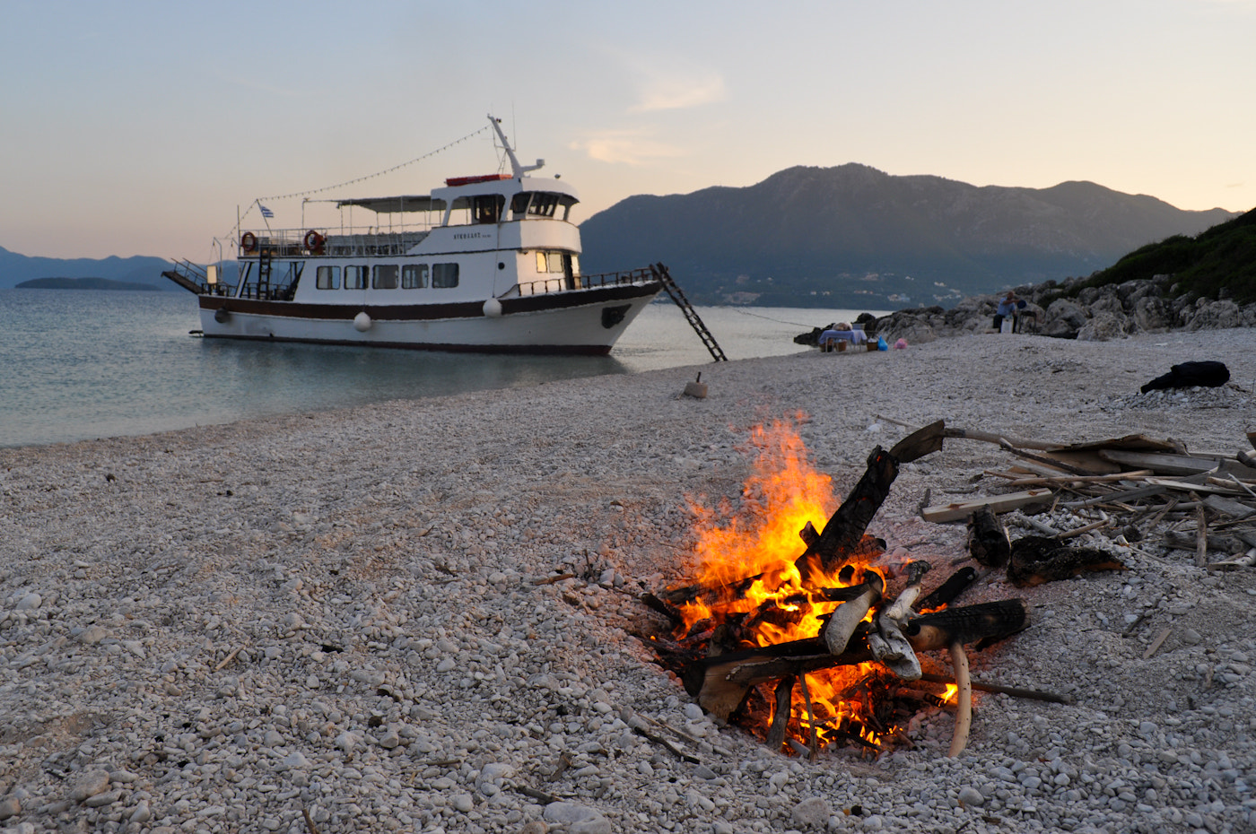 Photograph Boat and Fire by Jon Starling on 500px