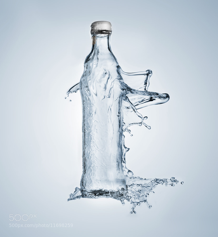 Photograph Liquid bottle by Sylvain Millier on 500px