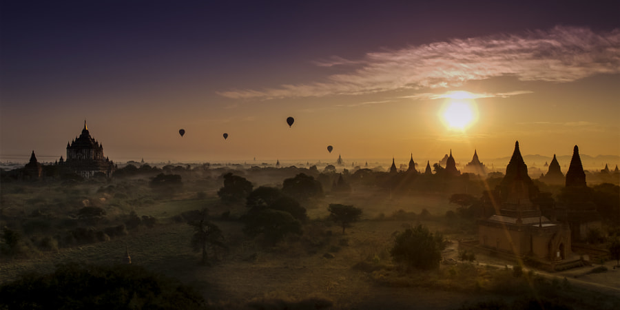 Hexagon Sun Over Ancient Bagan.??? by FaceChoo Yong on 500px.com